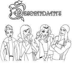 Descendants Coloring Page