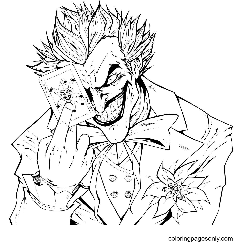 Devil Joker Coloring Page