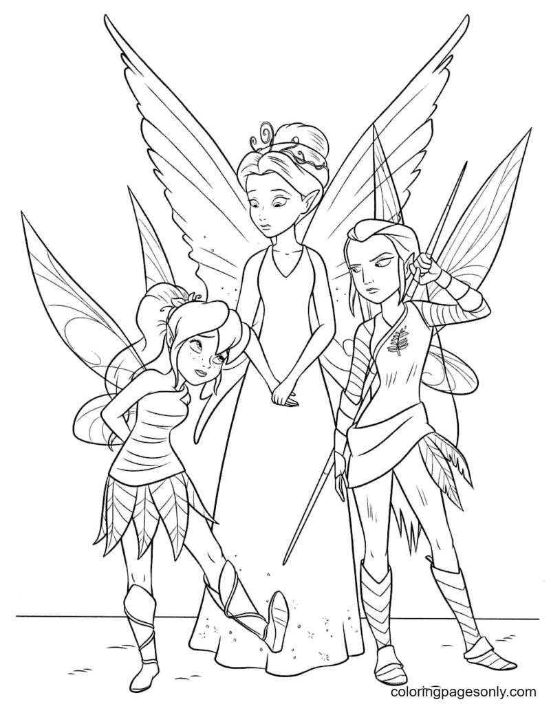 Disney Fairies Coloring Page