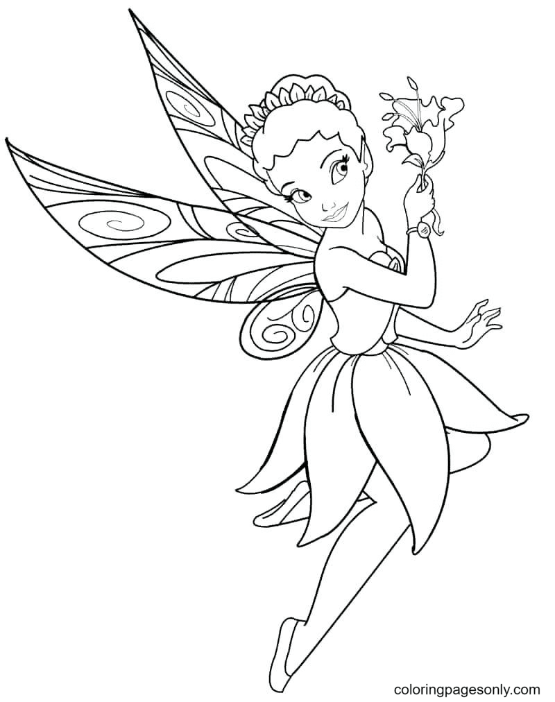 Disney Fairy Girls Coloring Page