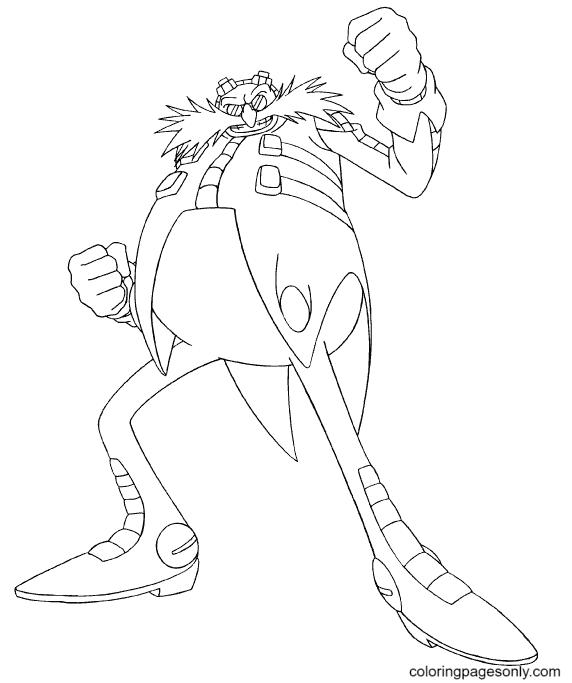 Doctor Eggman Robotnik Coloring Page