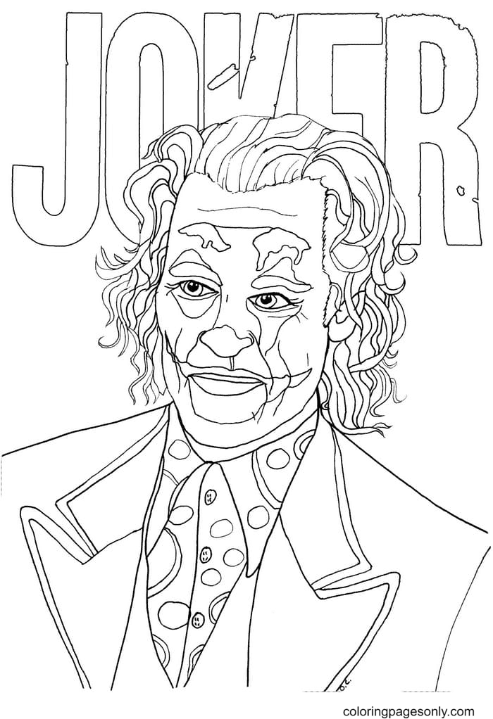 Don't joke with Joker Coloring Page