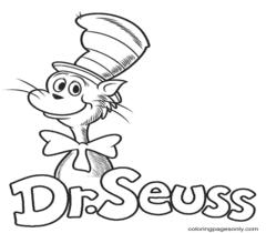 Dr. Seuss Coloring Page