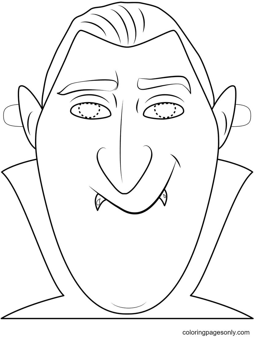 Dracula Mask Coloring Page