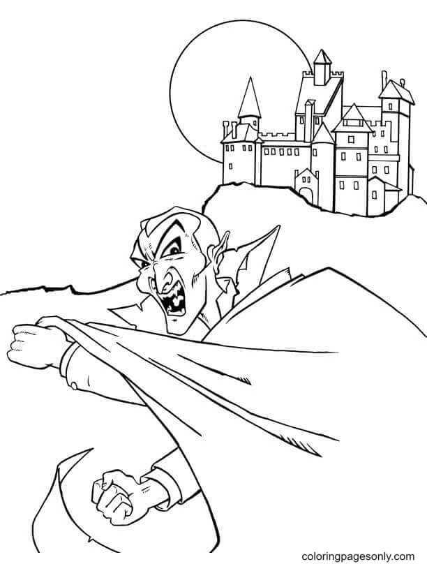 Dracula's Lair Coloring Page