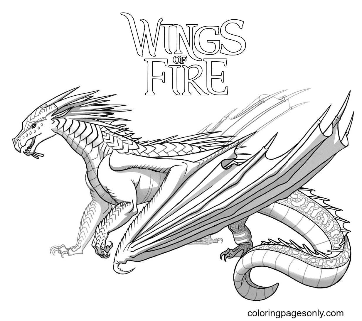 Dragon Wings of Fire Coloring Page