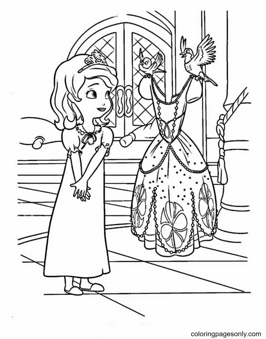 Dress for Sofia Coloring Page