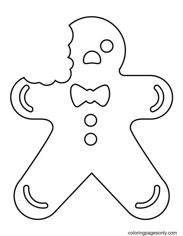 Eaten Gingerbread Man Coloring Page
