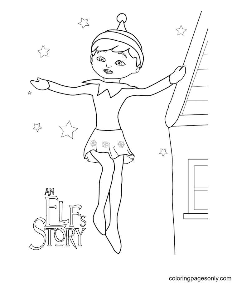 Elf Girl Coloring Page