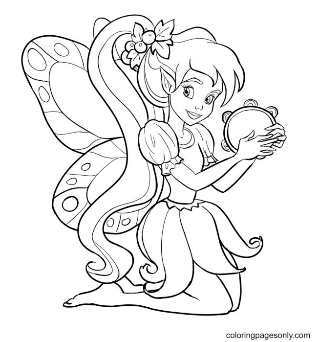 Fairies For Kids Coloring Page