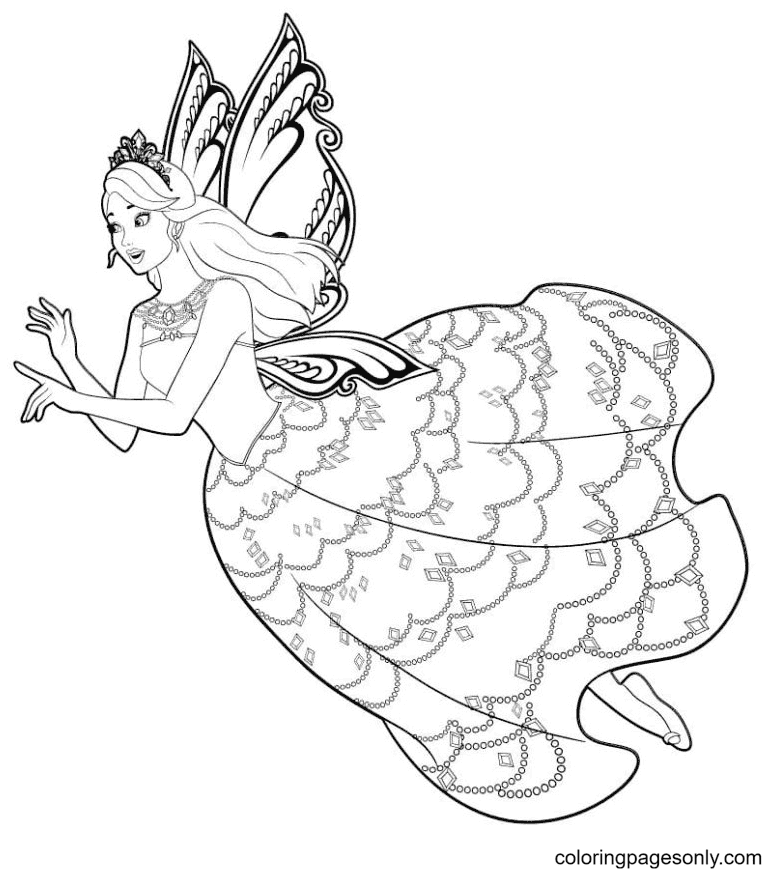 Fairy Barbie Coloring Page