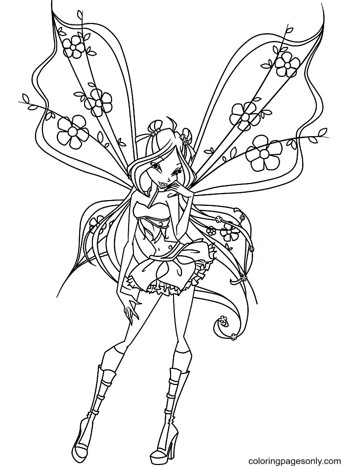Fairy Stella Coloring Page
