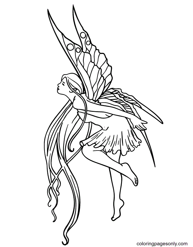 Fairy Tattoo Coloring Page