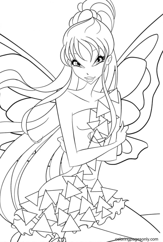 Fairy Winx Coloring Page