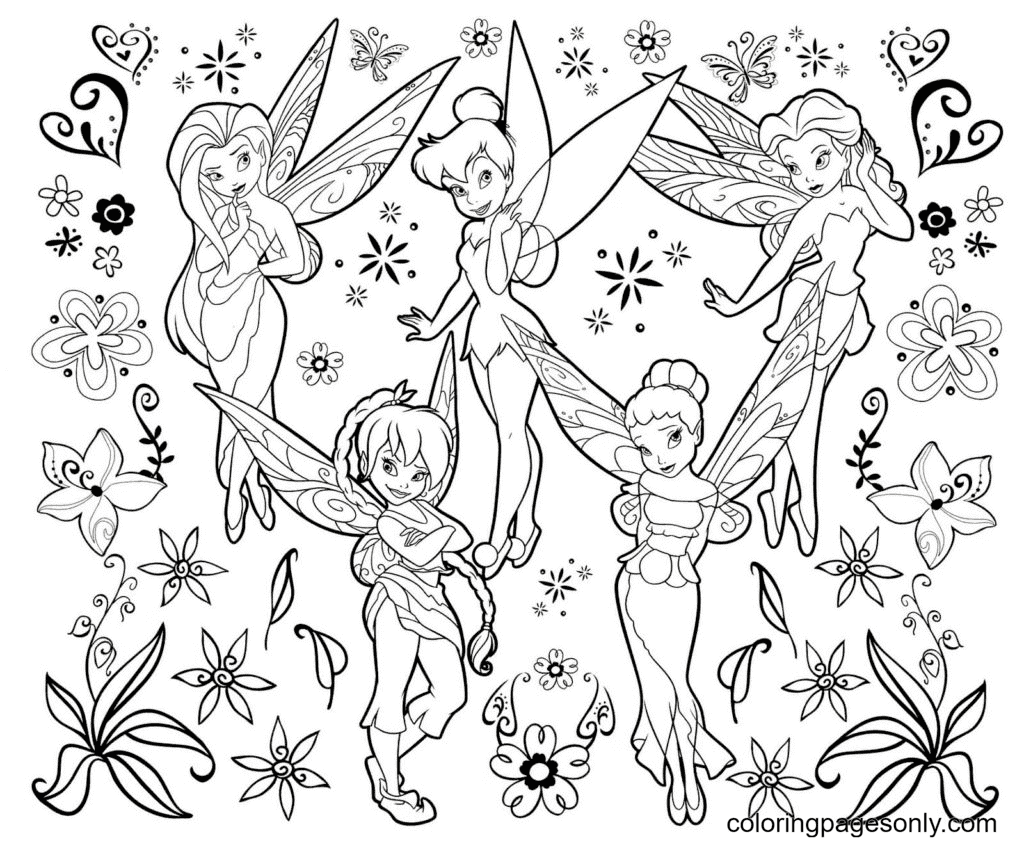 Fairy girlfriends Coloring Page
