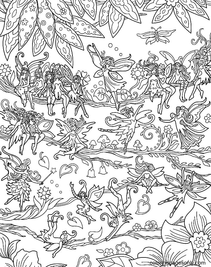 Fairy land Coloring Page