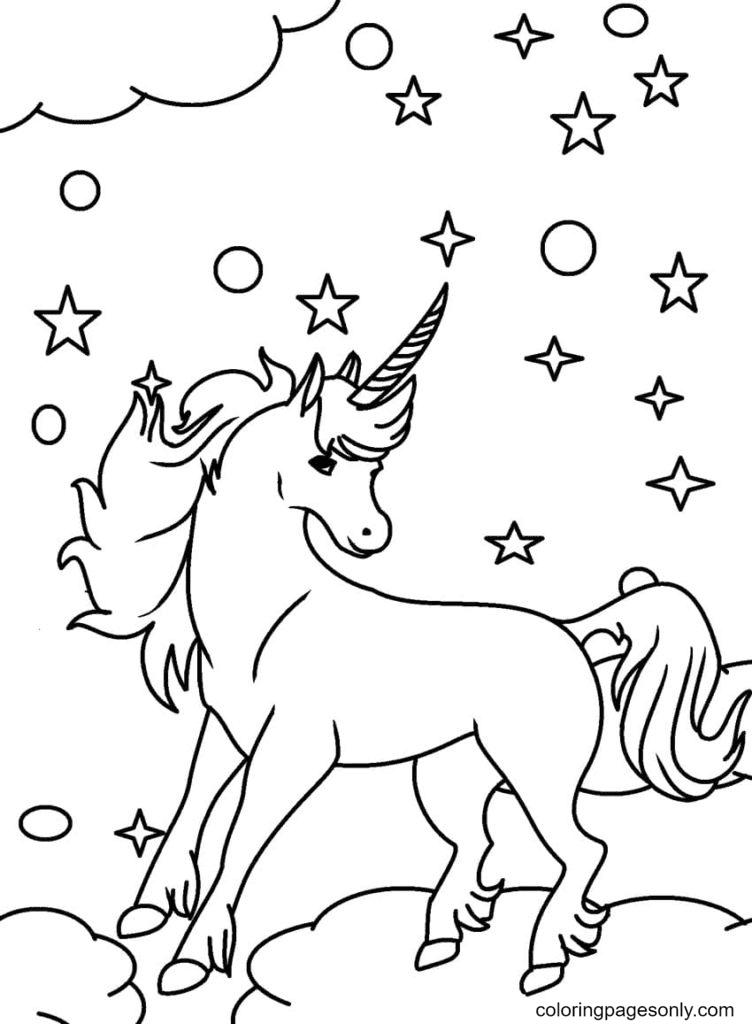Fairy unicorn Coloring Page