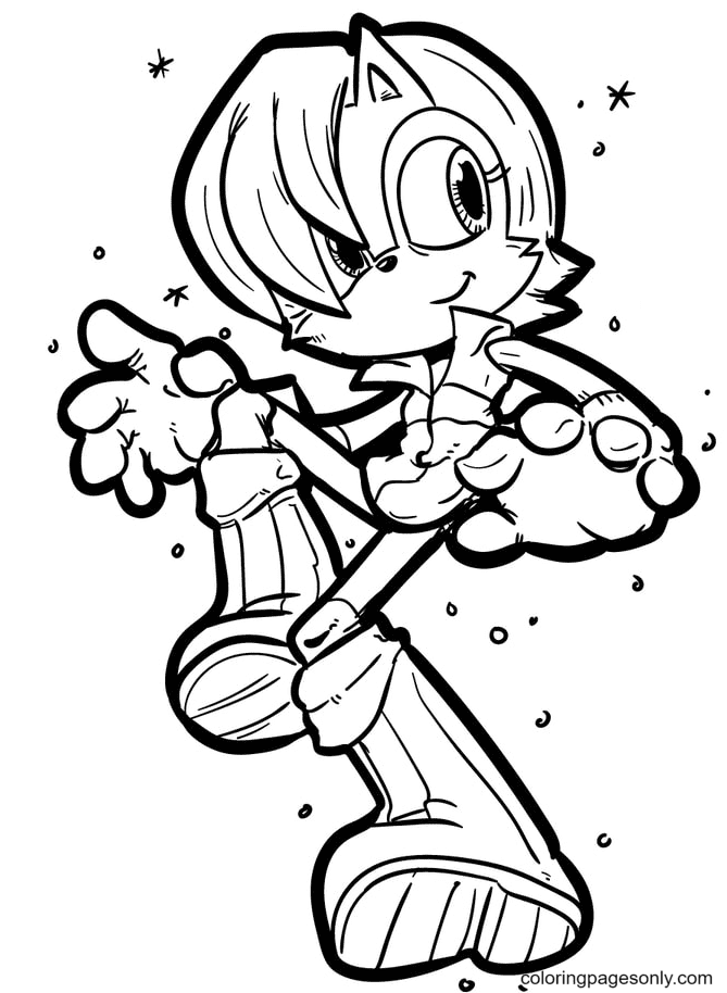 Fast Sonic Coloring Page