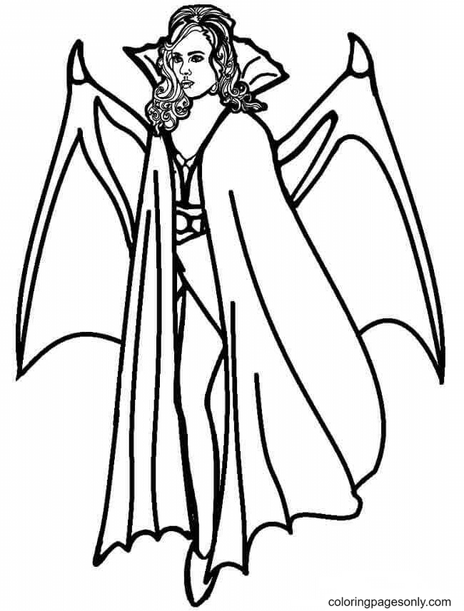 Female Vampire Coloring Page