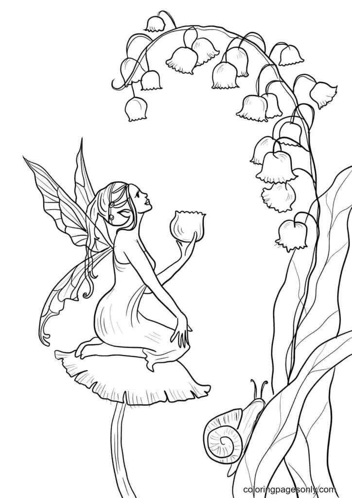 Forest Fairy Coloring Page