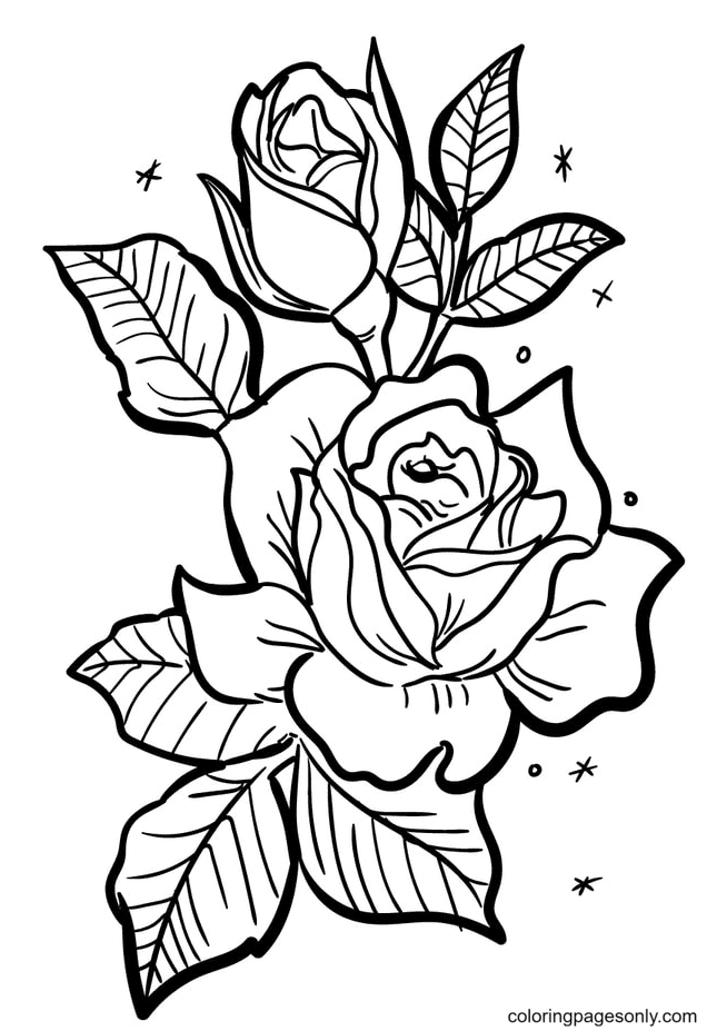 Fragrant Roses Coloring Page