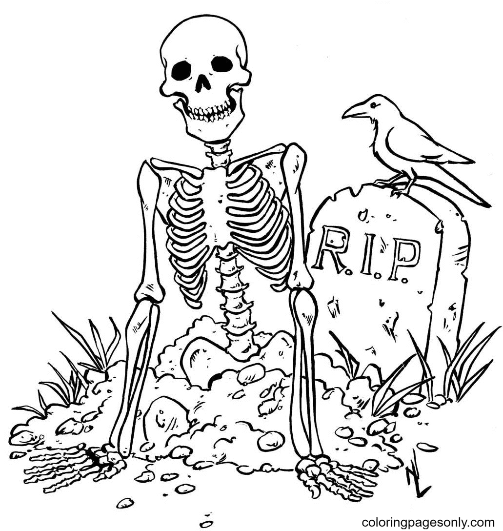 Free Dead Skull Coloring Page