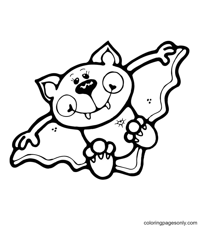Free Halloween Bat Coloring Page