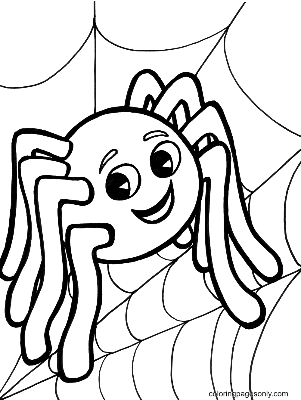Free Halloween Spider Coloring Page