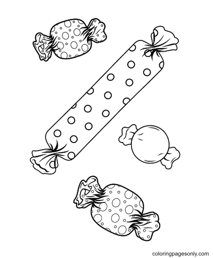 Free Printable Candy Coloring Page