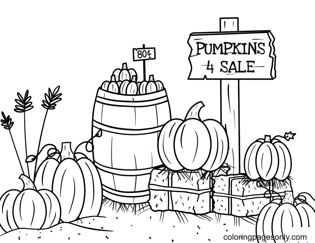 Free Printable Pumpkin Coloring Page