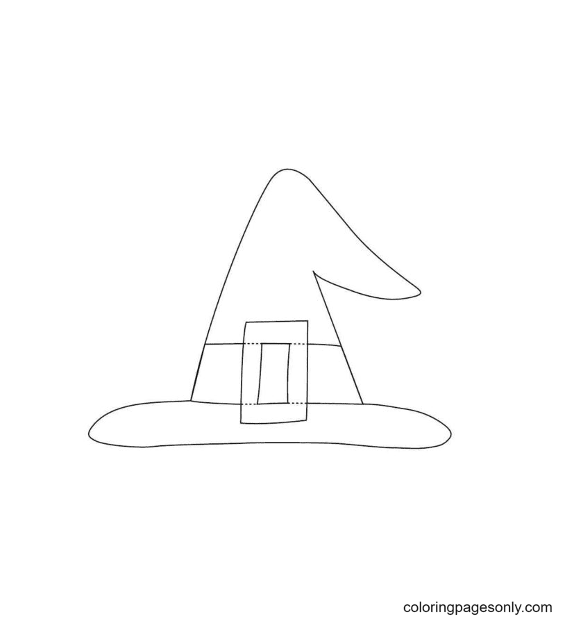 Free Printable Witch Hat Coloring Page