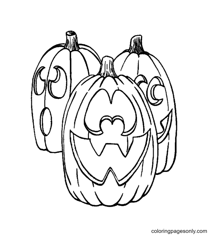 Free Pumpkin Halloween Coloring Page