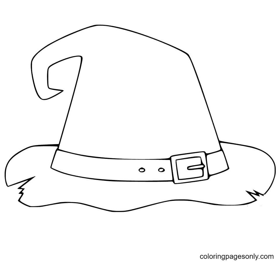 Free Witch Hat Coloring Page