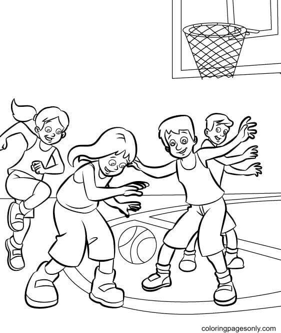Friendly Match Coloring Page
