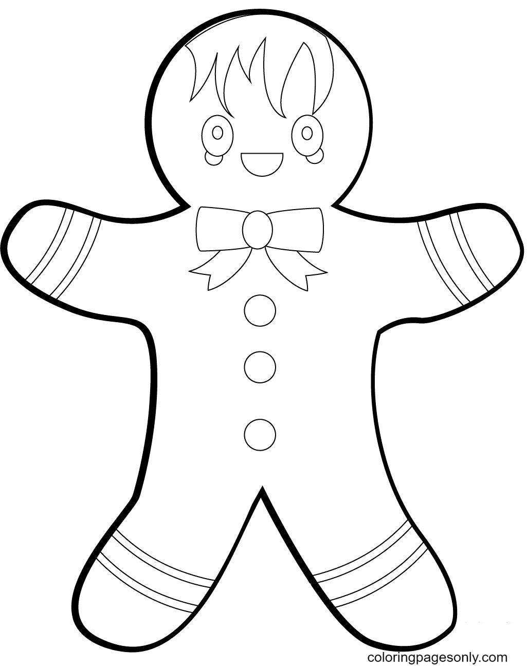 Fun Gingerbread Man Coloring Page