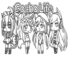 Gacha Life Coloring Page