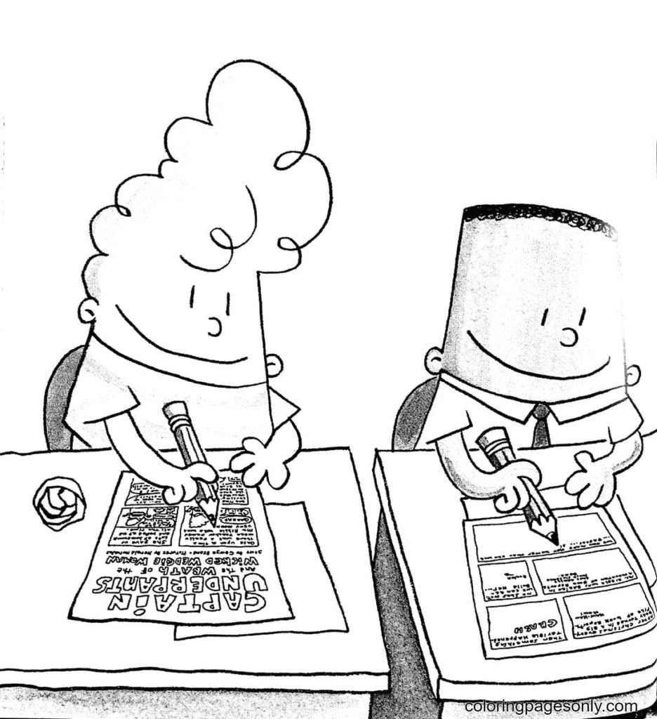 George and Harold Hutchins Coloring Page