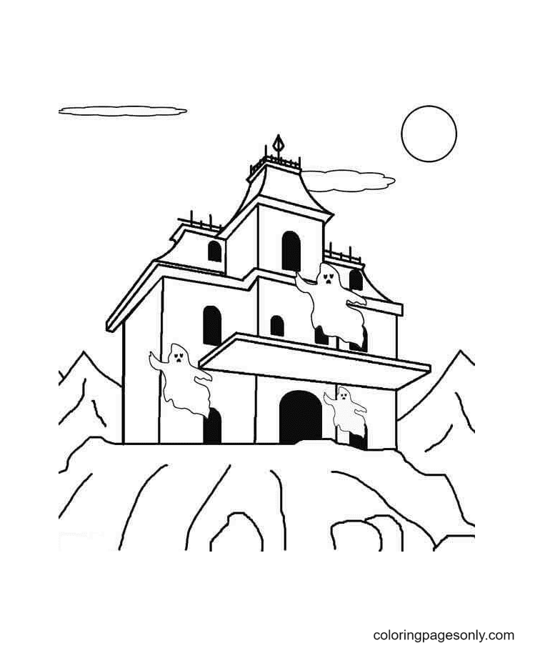 Ghosts Are Warning You Coloring Page