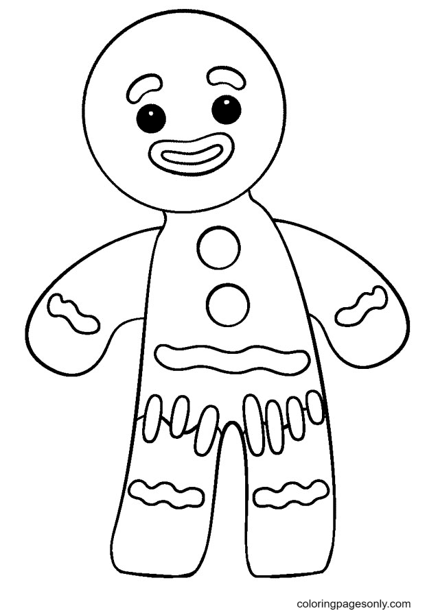 Gingerbread Man Feels Bad Coloring Page