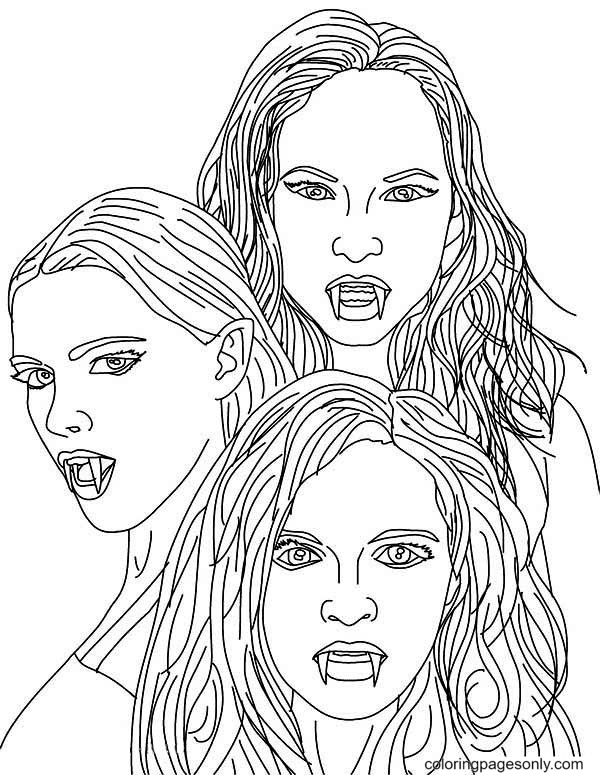 Girls Vampire Coloring Page