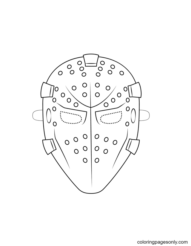 Goalie Mask Coloring Page