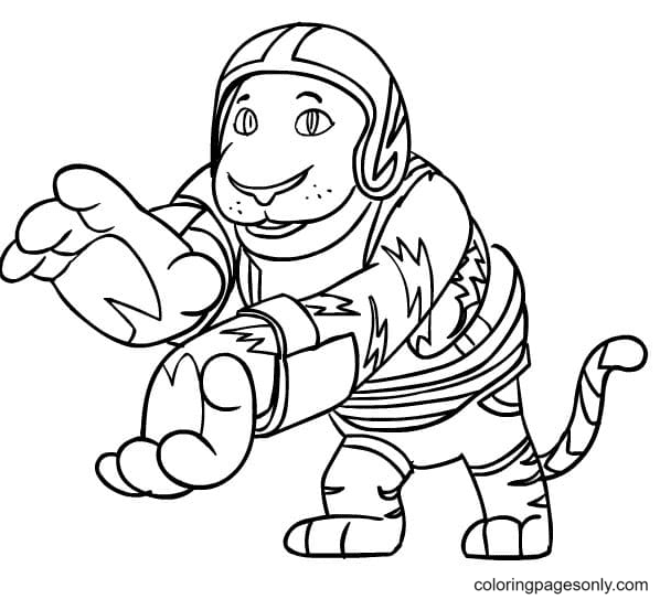 Goji from Kody Kapow Coloring Page