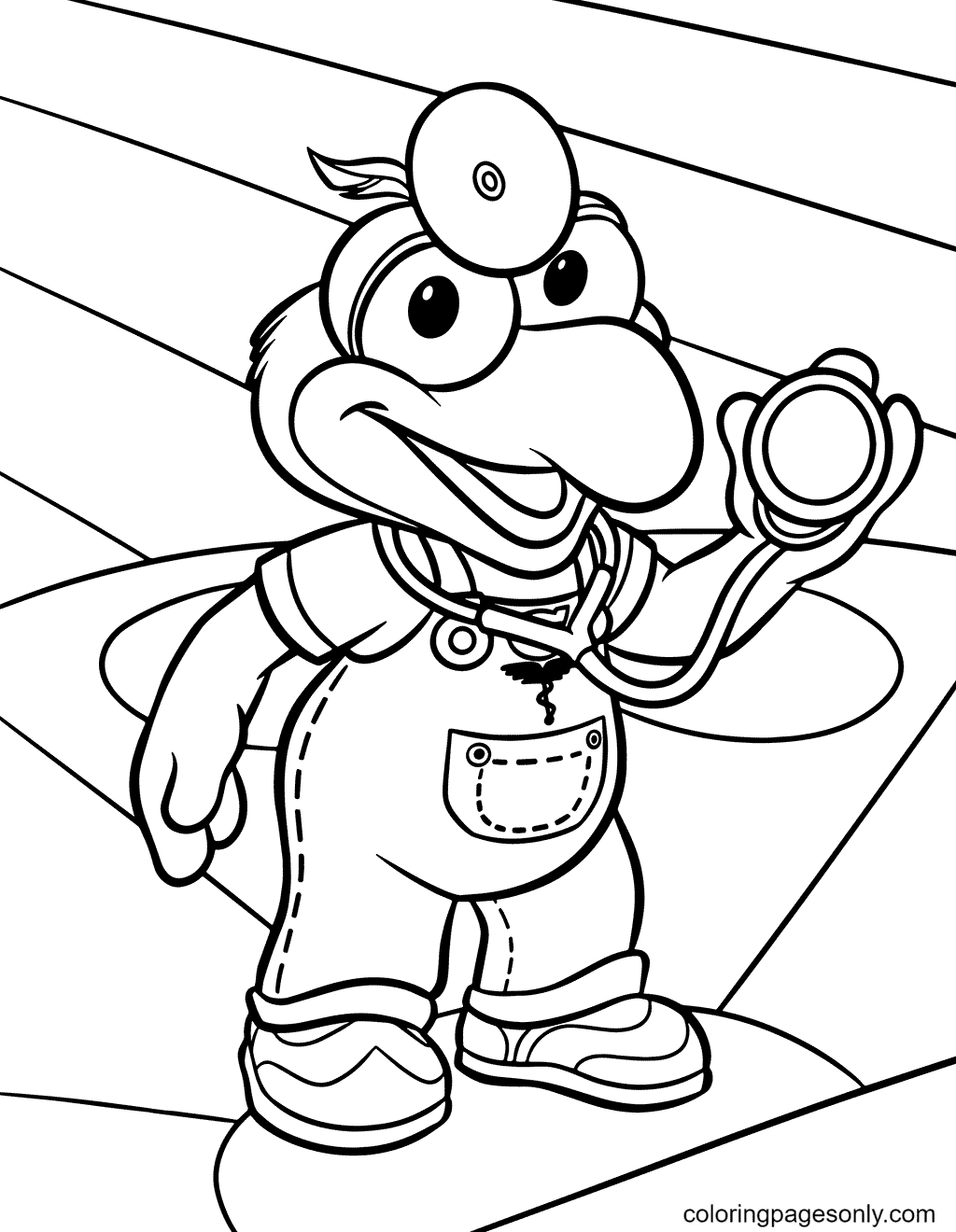 Gonzo doctor Coloring Page