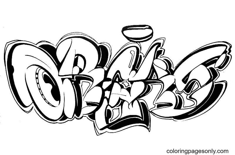 Graffiti Free Coloring Page
