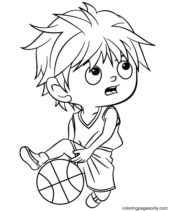Great Dribbling Coloring Page