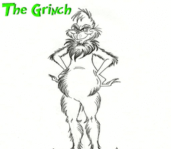 Grinch Coloring Page