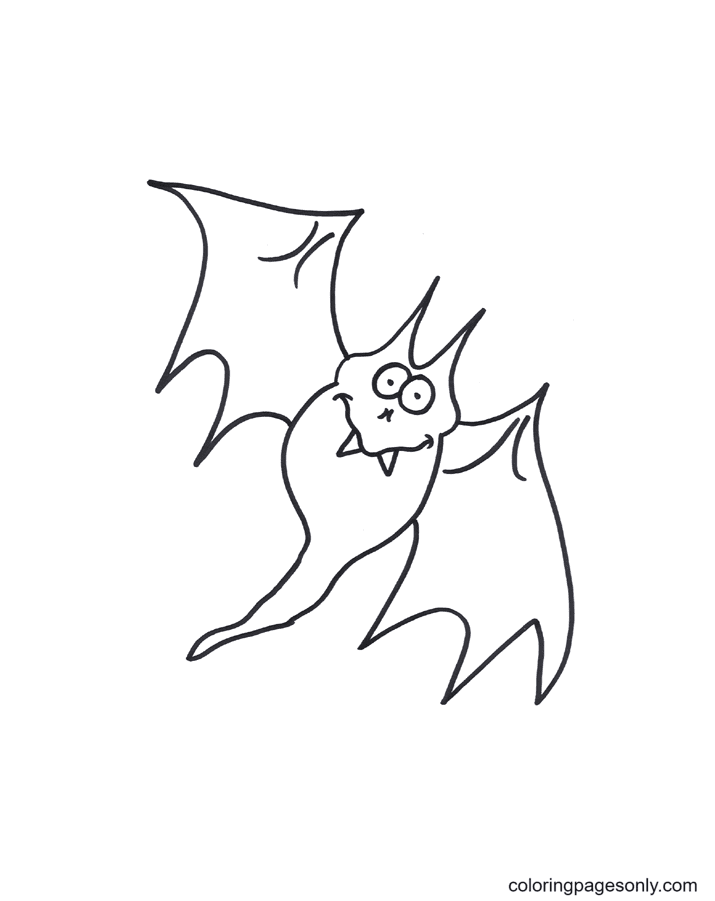 Halloween Bat Free Coloring Page