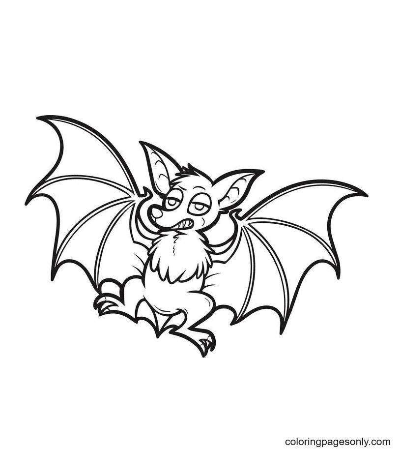 Halloween Bat Printable Coloring Page