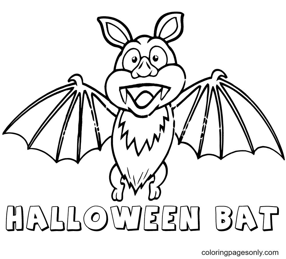 Halloween Bat Vampires Coloring Page