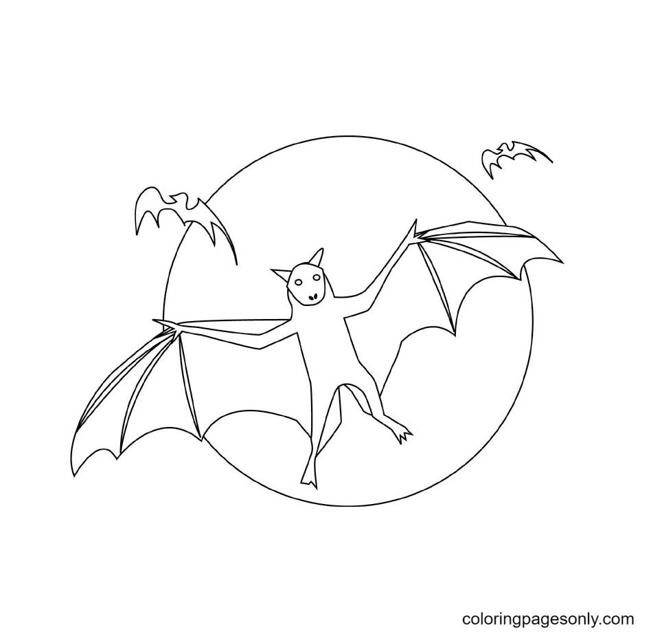 Halloween Bats Free Printable Coloring Page